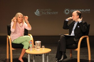 Anneke in discussion with Marcus Hearn